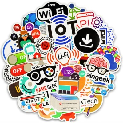 트래블 캠핑 노트북 여행가방 데코스티커 - IT - 50매