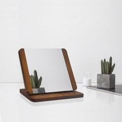 HI-SWM 탁상용 원목 사각 거울 각도조절 거울