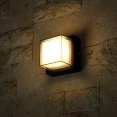 LED 돌핀 사각 벽등(3000K)