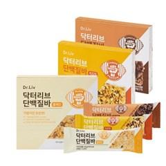 닥터리브 단백질바 3종(치즈맛/초코맛/플레인) 8박스(32개)