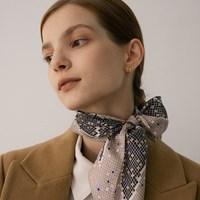 arum silk scarf - pink