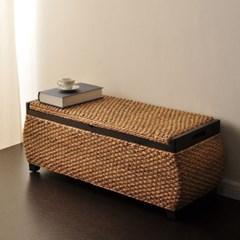 럭셔리 라탄 벤치수납장 의자_(247291)