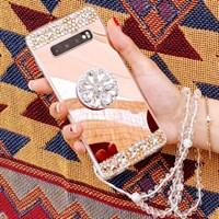큐빅라인 미러 스마트톡 스트랩 아이폰 갤럭시 휴대폰 목걸이 케이스