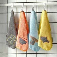 극세사 주방 핸드 타올 1개(색상랜덤)