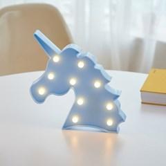 LED 유니콘 블루 무드등 인테리어 조명_(1627852)