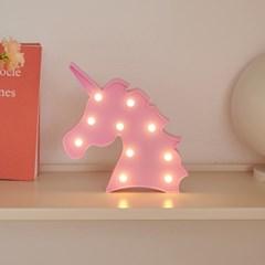 LED 유니콘 핑크 무드등 인테리어 조명_(1627851)