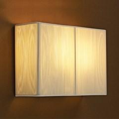 주름 갓 사각 2등(대)벽등