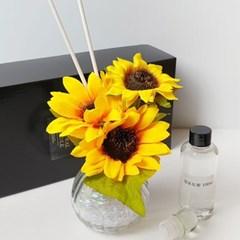 해바라기볼륨 꽃다발 천연향료 럭셔리 디퓨저+포장박스