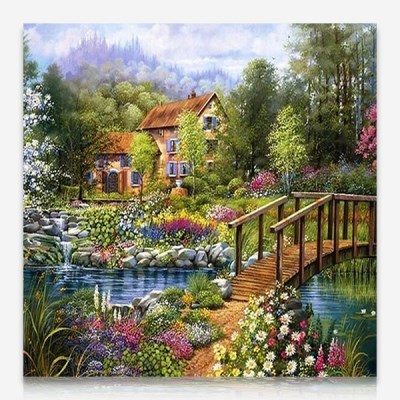 아름다운 정원의 집 DIY 보석십자수 십자수 비즈세트_(2462538)