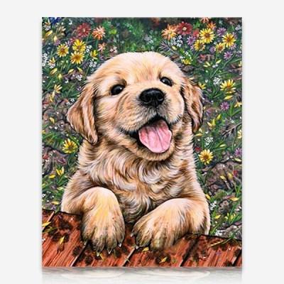 꽃밭에 강아지 DIY 보석십자수 십자수 비즈세트_(2462526)