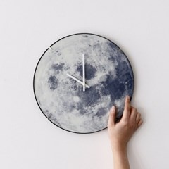 Dream Moon Clock 야광 돔형 달 무소음 벽시계_(1359718)