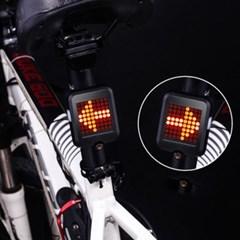 스마트한 자전거 후미등 브레이크등 방향지시등 LED