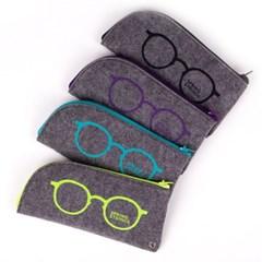 펠트 안경 파우치 4color( 차콜, 퍼플, 블루, 옐로우그린)