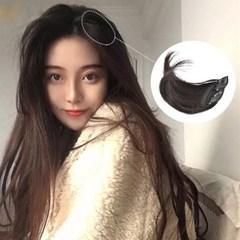 볼륨뽕 볼륨가발 뽕머리 헤어피스 똑딱이 붙임머리_(2463043)