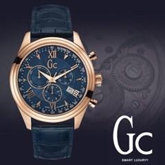 GC 게스컬렉션 Y04008G7 남성시계 가죽밴드 손목시계