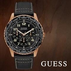 GUESS 게스 W1170G2 남성시계 가죽밴드 손목시계