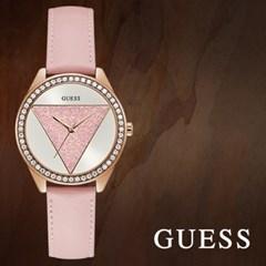 GUESS 게스 W0884L6 여성시계 가죽밴드 손목시계