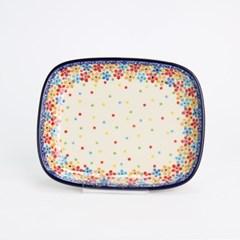 폴란드그릇 아티스티나 라운드직사각접시(소) 패턴2321