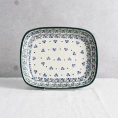 폴란드그릇 아티스티나 라운드직사각접시(소) 패턴1890
