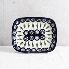폴란드그릇 아티스티나 라운드직사각접시(소) 패턴54