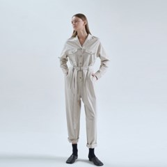 20FW cotton O-ring jumping suit - beige