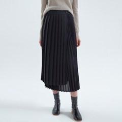 20FW flitz unbal skirt - black