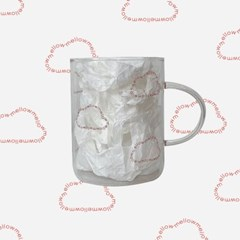 Cloud glass mug _ Red