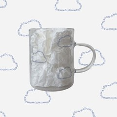 Cloud glass mug _ Blue