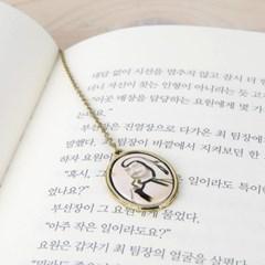 한국화 책갈피 김명국-달마도