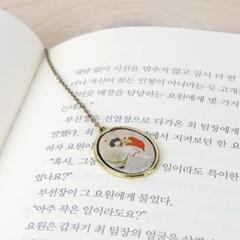 한국화 책갈피 신윤복-그네타는 여인