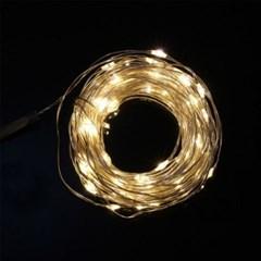 [은하수]USB연결형 100구 LED 와이어 전구(10M) (웜색)