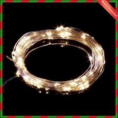 100구 드럼 투명선 LED 웜색(10M) (점멸컨트럴박스有) (60973)