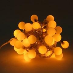 [은하수] 50구 투명선 LED 구슬 지니전구 웜색(5M) (점멸有) (연결가