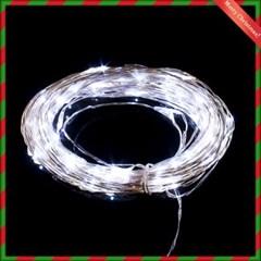 100구 드럼 투명선 LED 백색(10M) (점멸콘트럴有)