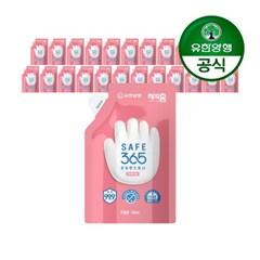 [유한양행]해피홈 SAFE365 핸드워시 리필 200ml 핑크포레향 24개