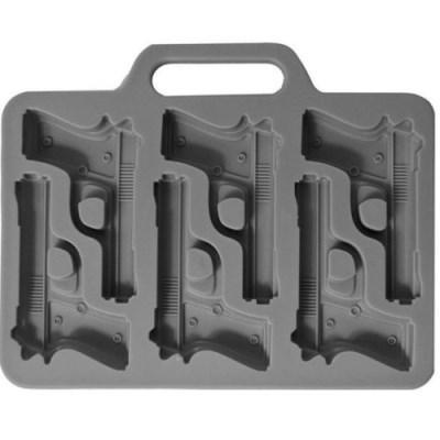 실리콘 6구 권총모양 몰드 1개(색상랜덤)