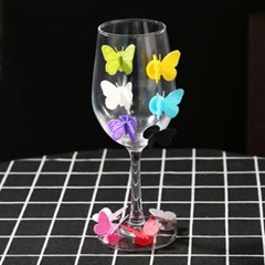 실리콘 나비 컵마커 10개1세트(색상랜덤)