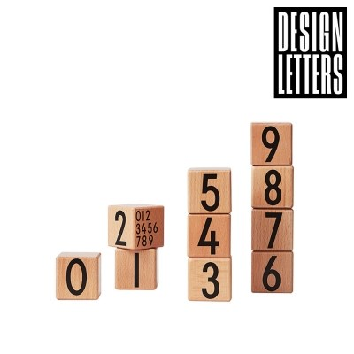 [디자인레터스]나무 숫자블럭(숫자0~9세트)-컬러선택_(1128777)