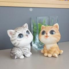 귀여운 미니 고양이 소품 2P SET