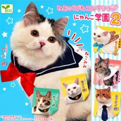 고양이 악세사리 고양이 학원2탄 네코 옷 캡슐토이