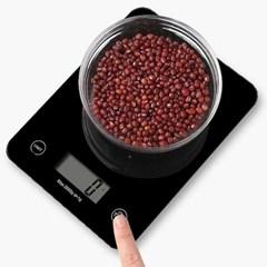Digital Slim 터치형 주방저울 최소1kg 최대5kg 측정