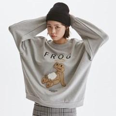[노이커먼]FROG LAYERED 티셔츠_그레이