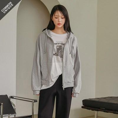 [커먼유니크] 에센셜 2 웨이 후드 집업_박보영' 혜리 착용