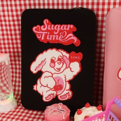 SUGAR TIME LAPTOP/iPAD POUCH(BLACK)
