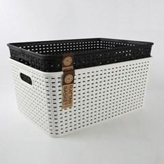 모던 라탄 손잡이 바스켓 중형 1개(색상랜덤)