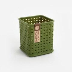 모던 라탄 정사각 바스켓 1개(색상랜덤)