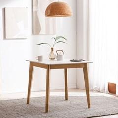 모딜리아니 세라믹 원목 2인 식탁 테이블