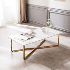모딜리아니 세라믹 엑스 골드 소파 테이블