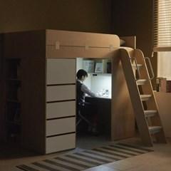 하우스 수납서랍 1인실 프리미엄 독서실책상_(12109912)