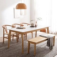 모딜리아니 M76 세라믹 원목 6인 식탁세트(의자+벤치)